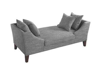 Image for Grey Woven Upholstered Bench