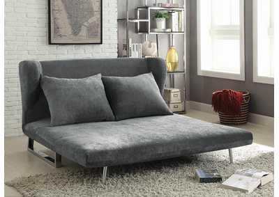 Fat Daddy S Furniture Grey Velvet Sofa Bed