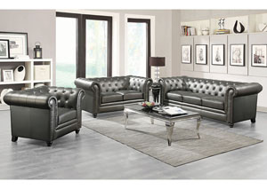 Gunmetal Grey Sofa and Loveseat