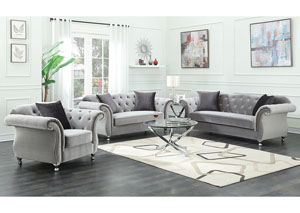 Image for Chromed Sofa & Loveseat