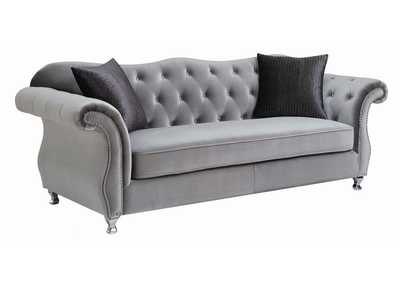 Image for Manatee Frostine Traditional Silver Sofa
