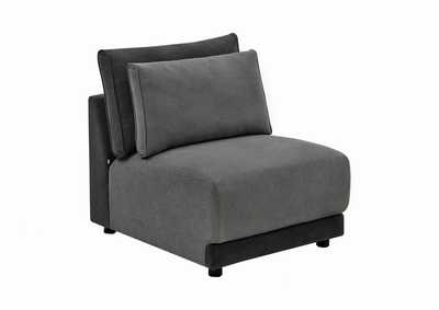 Seanna Two-Tone Grey Armless Chair