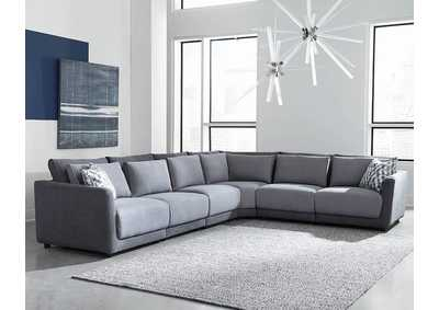 Seanna Two-Tone Grey Sectional Laf Chair