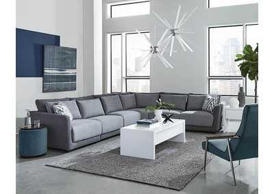 Seanna Two-Tone Grey 6 Piece Sectional Sofa W/ Corner