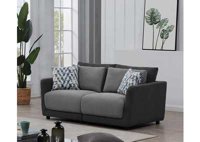 Seanna Two-Tone Grey 2 Piece Sectional Loveseat