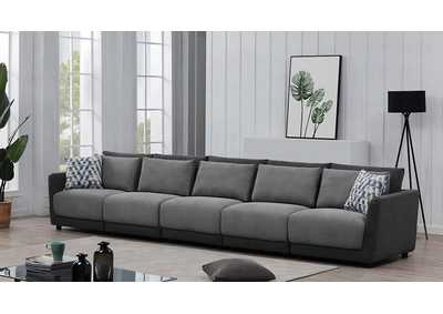 Seanna Two-Tone Grey 5 Piece Sectional Sofa