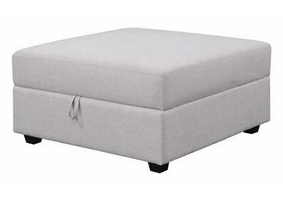 Cambria Light Grey Storage Ottoman