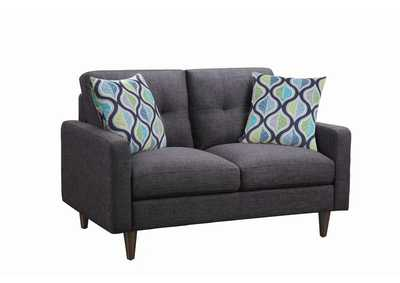 Image for Thunder Watsonville Retro Grey Loveseat