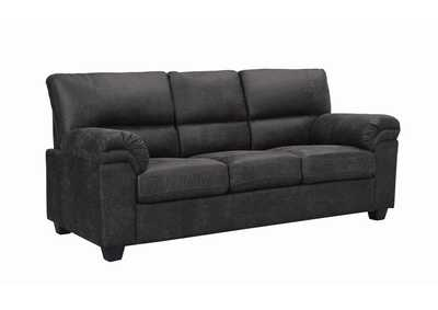 Black Stationary Fabric Sofa