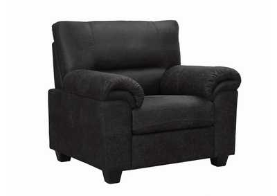 Black Stationary Fabric Chair