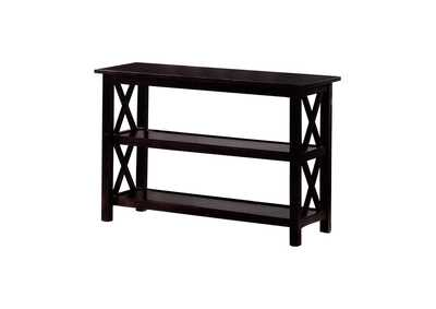 Image for Diesel Merlot Double Shelf Sofa Table