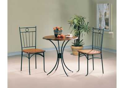Honey/Black Three-Piece Bistro Set