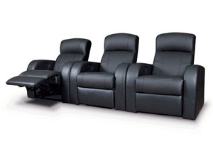 Cyrus Black 3 Pieces 3-Seater Home Theater