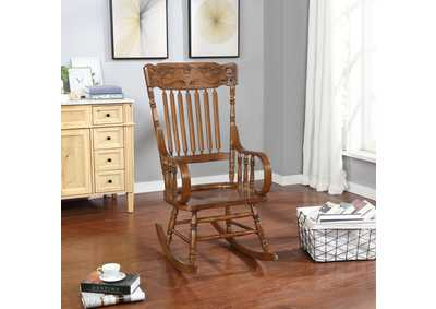 Warm Brown Traditional Wooden Rocking Chair