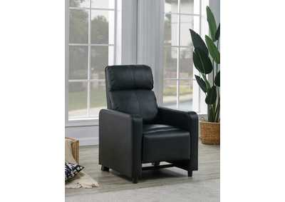 Toohey Home Theater Black Push-Back Recliner