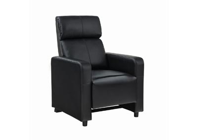 Image for Eerie Black Toohey Home Theater Push-Back Recliner
