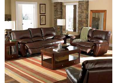 Clifford Dark Brown Double Power Reclining Sofa