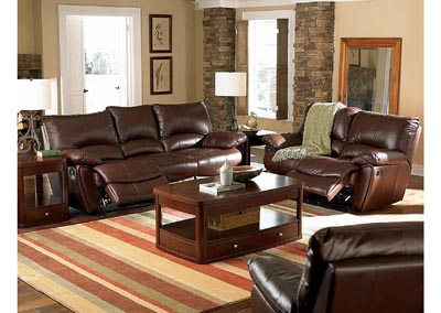 Brown Power Loveseat