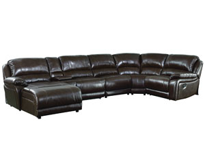 Mackenzie Chestnut Reclining Sectional