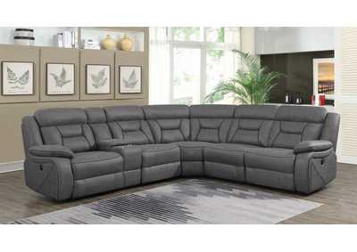 Camargue Grey Reclining Sectional