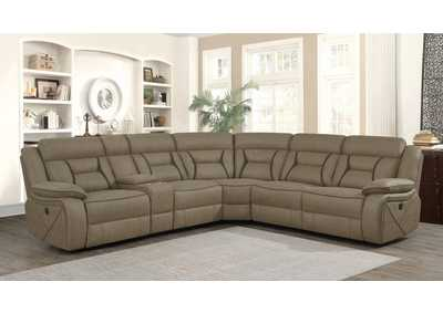 Carmargue Tan Motion Sectional