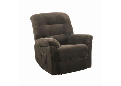 Image for Armadillo Chocolate Power Lift Recliner