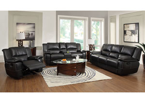 Lee Black Reclining Sofa & Loveseat