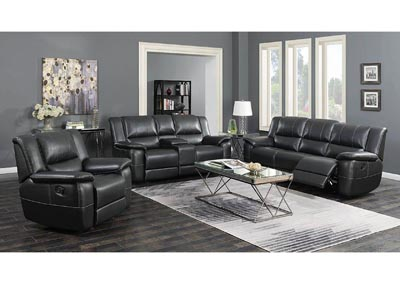 Lee Black Reclining Loveseat