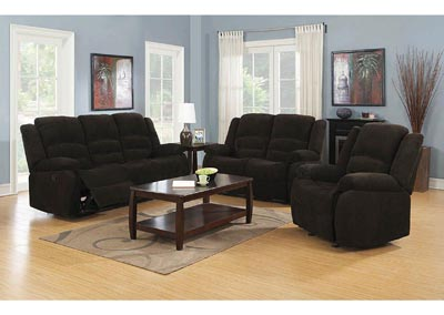 Gordon Dark Brown Motion Sofa