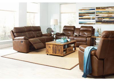 Damiano Brown Reclining Sofa