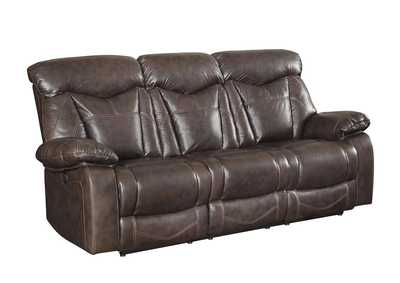 Image for Kabul Zimmerman Dark Brown Power Motion Faux Leather Reclining Sofa