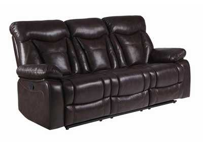 Eerie Black Zimmerman Casual Dark Brown Motion Sofa