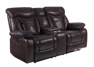 Zimmerman Dark Brown Reclining Loveseat