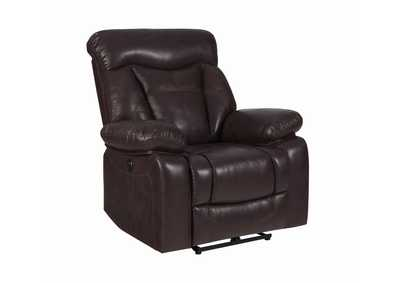 Zimmerman Dark Brown Glider Recliner