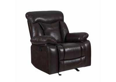 Image for Eerie Black Zimmerman Casual Dark Brown Glider Recliner
