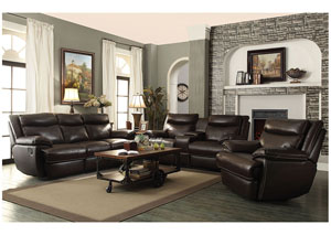 Brown Power Reclining Sofa & Loveseat