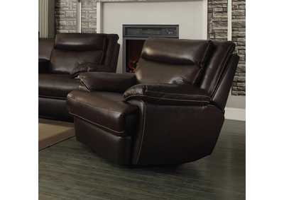 Brown Power Reclining Sofa