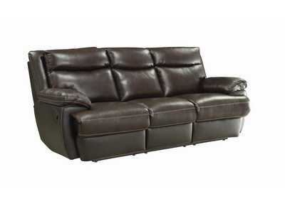 Armadillo MacPherson Brown Leather Reclining Sofa