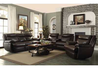 Brown Reclining Loveseat