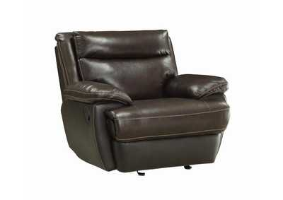 Image for Armadillo MacPherson Brown Leather Glider Recliner