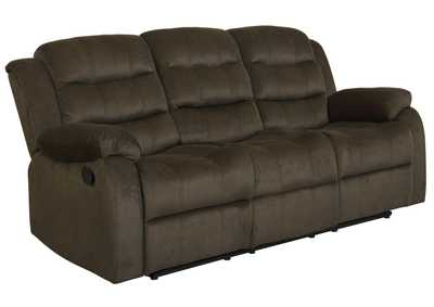 Image for Mondo Rodman Chocolate Reclining Sofa