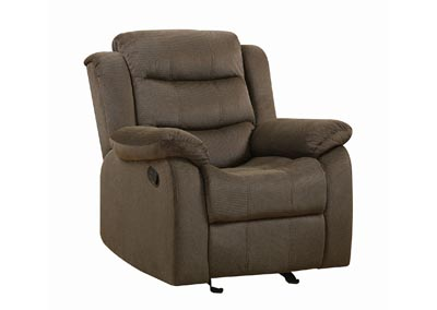 Rodman Chocolate Glider Recliner