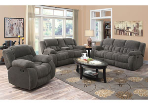 Gray Reclining Sofa & Console Loveseat