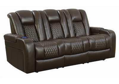 Image for Birch Delangelo Brown Power Motion Reclining Sofa