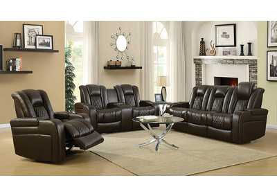 Brown Power Motion Loveseat