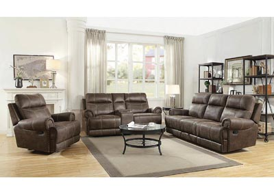 Buckskin Brown Glider Reclining Loveseat