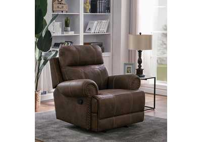 Buckskin Brown Glider Recliner
