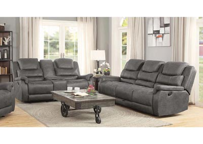 Grey Reclining Sofa
