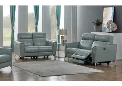 Alberta Seafoam Power Sofa & Loveseat