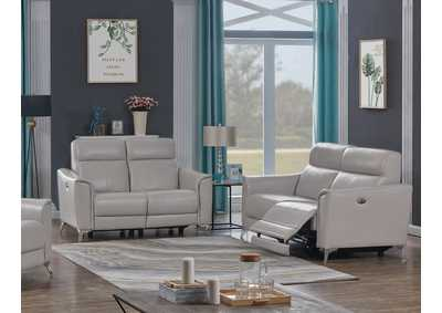 Alberta Light Grey Power Sofa & Loveseat
